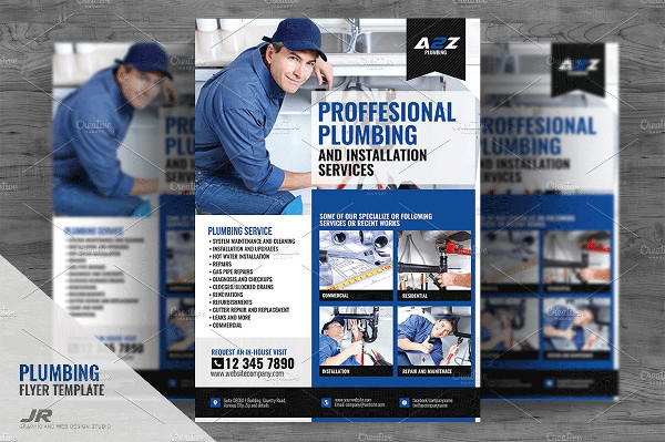 Plumbing Services And Promo Flyer Design