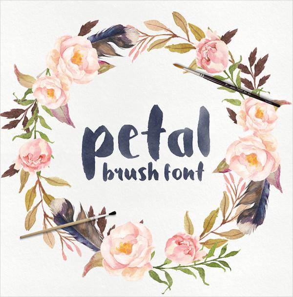 Petal Brush Display Font