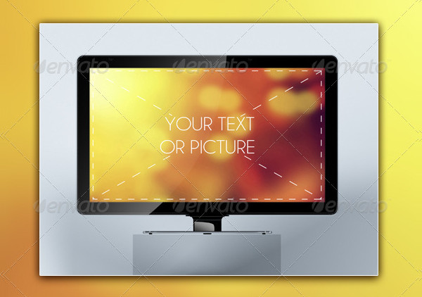 Professional LCD TV Mock-ups