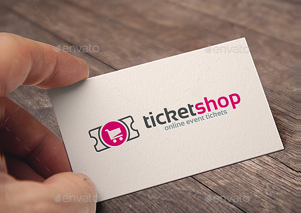 Professional Ticket Shop Logo Template