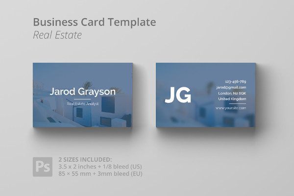 Real Estate Analyst Business Card Template