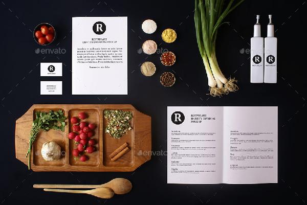 Realistic Restaurant Identity Branding Mock-Up