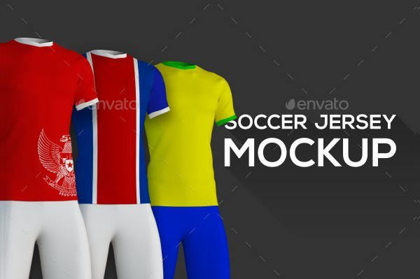 Realistic Soccer Jersey Mockup