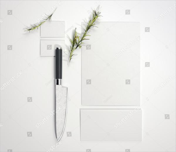 Restaurant Mock-Up with Sharp Knife