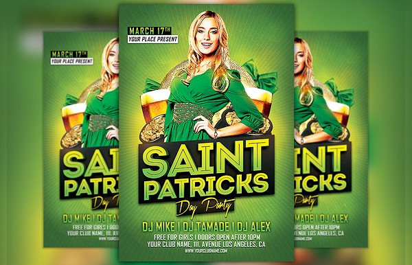 Saint Patricks Day Club Party Flyer Template