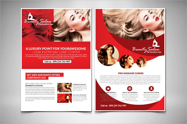 Hair Salon Care Flyer Template