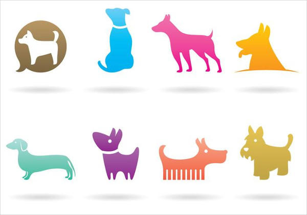 Set of Dog Logos Free