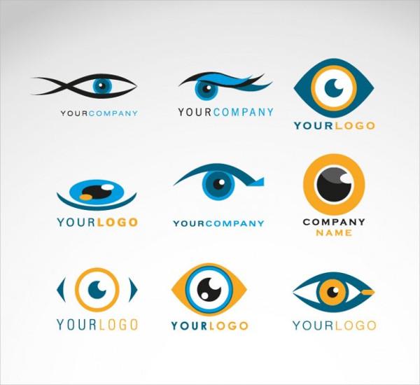 Set of Eyes Logos Free Vector
