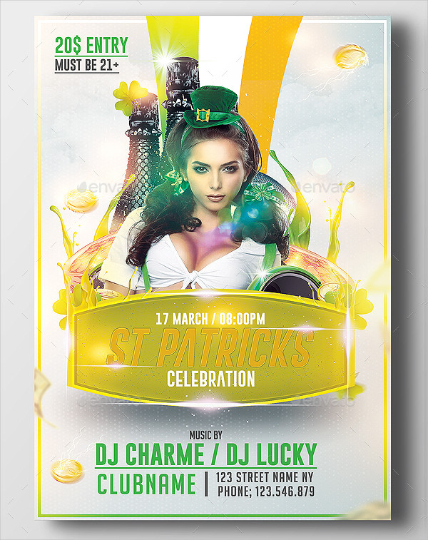 Sexy St Patricks Flyer Template
