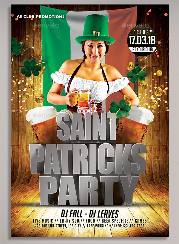 Shiny St Patricks Day Flyer Template