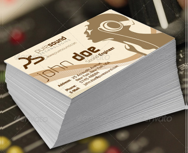 Sound Engineer Double Sided Business Card