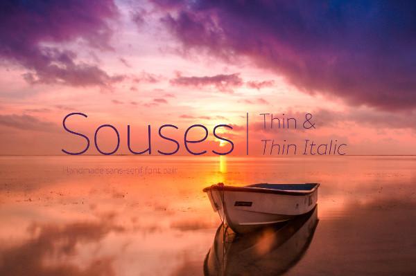Souses Thin & Thin Italic Regular Font