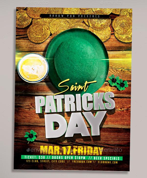 St Patrick Day Celebration Flyer Template