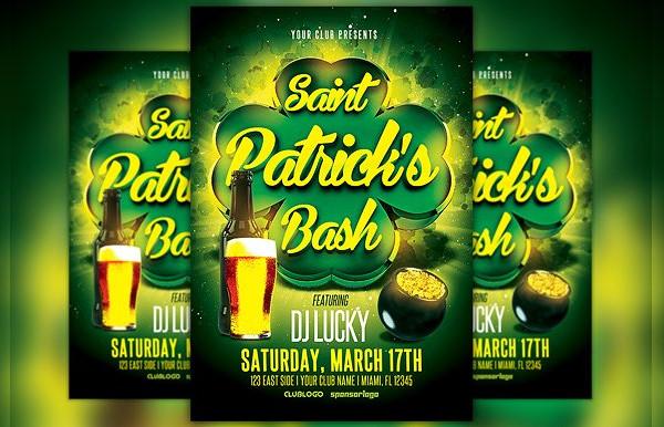 St Patricks Day Bash Flyer Template