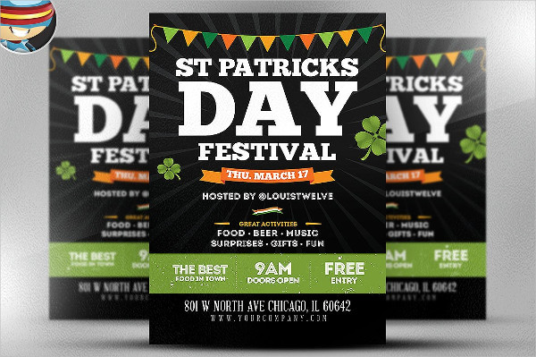 St Patrick's Day Festival Flyer Template