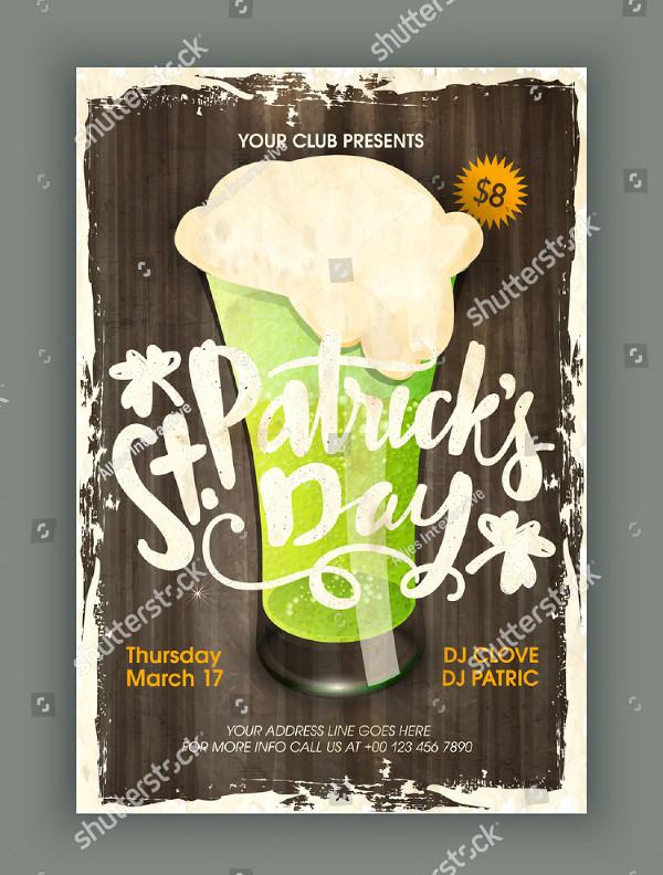 St Patricks Day Invitation Flyer Design