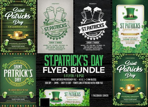 St. Patrick's Day Flyers Bundle