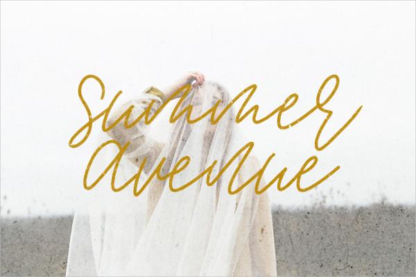 Summer Avenue Font Set