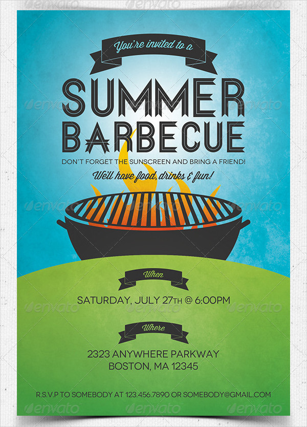 Summer Barbecue Invitation Template