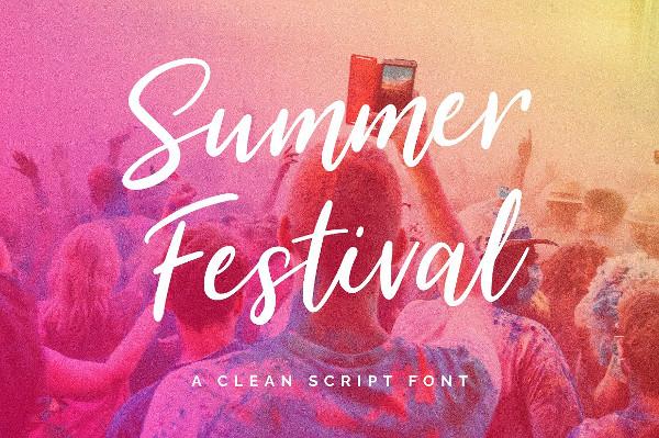 Summer Festival Typeface Font