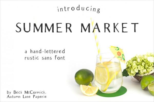 Summer Market Rustic Sans Font
