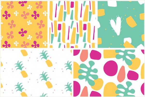 10 Summer Seamless Patterns