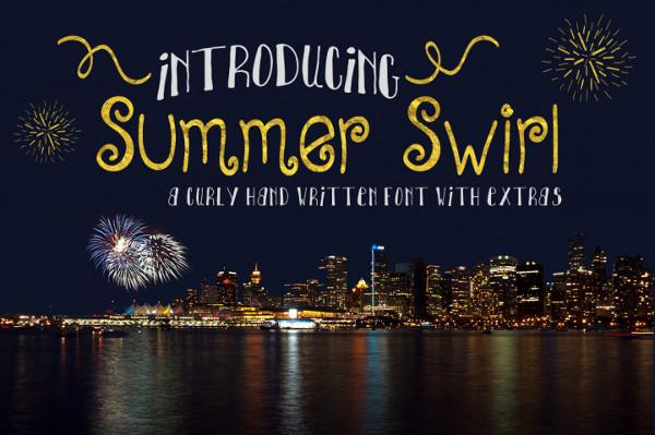 Summer Swirl Handwritten Font