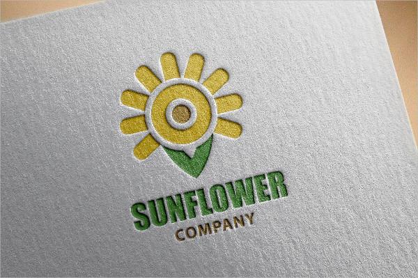 Sun Flower Logo Template