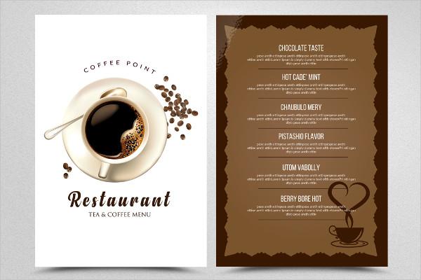 Tea & CoffeeMenu Restaurant Flyer Template