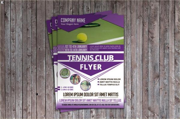Tennis Club Center Flyer Template