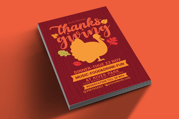 Thanksgiving Food Drive Flyer PSD