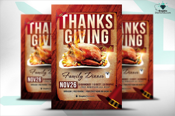 Thanksgiving Night PSD Flyer Template