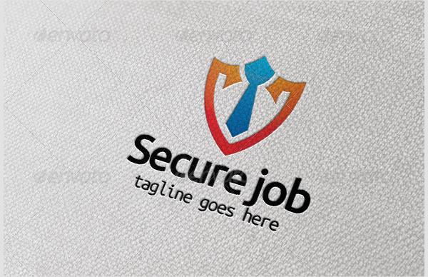 Clean Tie Vector Logo Template