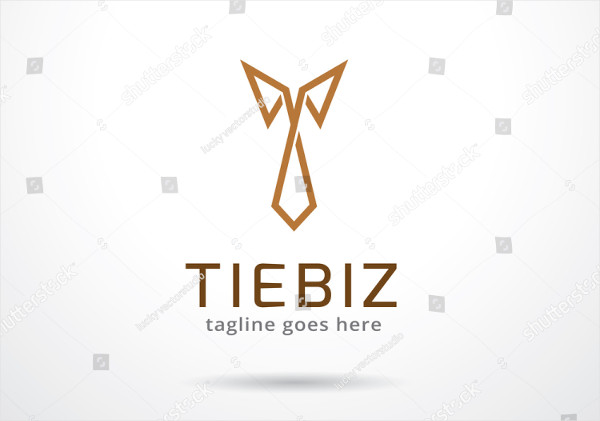 Cool Tie Logo Design Template