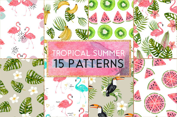 15 Tropical Summer Patterns