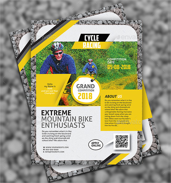 Unique Bicycle Racing Flyer Template