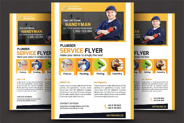 Unique Plumber Flyer Template
