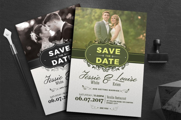 Unique Wedding Invitation Template