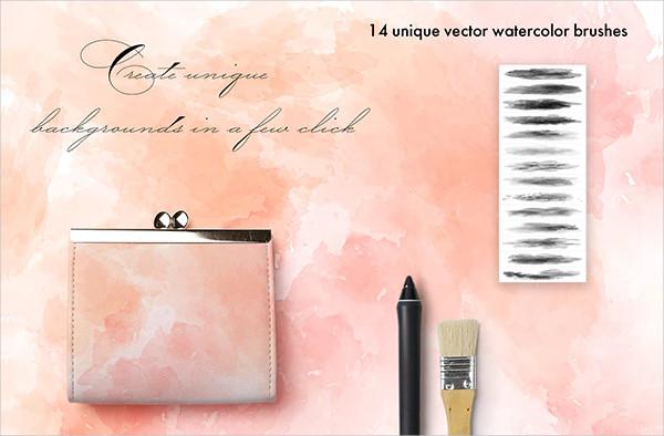 Vector Watercolor Brushes for Adobe Illustrator