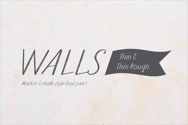 Walls Thin & Walls Rough Thin Regular Font