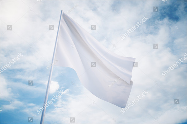 Waving White Flag Mock Up
