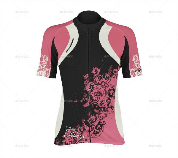 Women Bike Jersey Mockup Design
