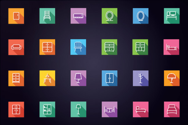 100 Home Appliances and Furniture Icons