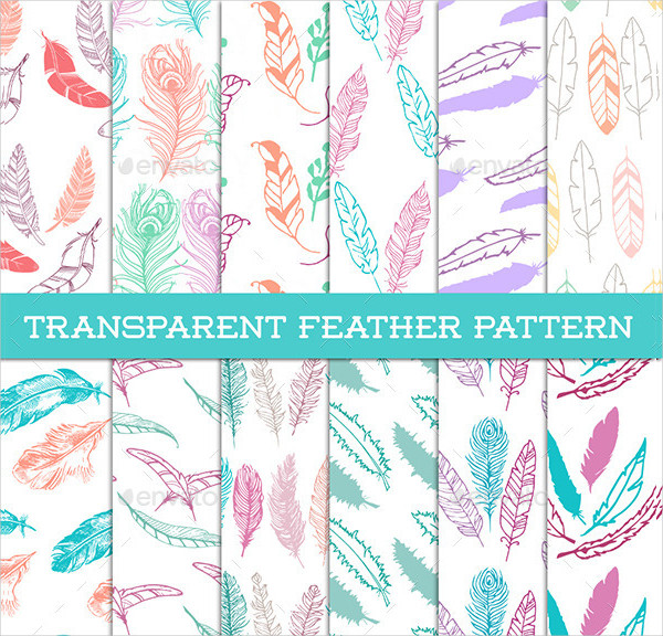 12 Transparent Feather Patterns