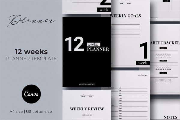 12 Weeks Planner Canva Template