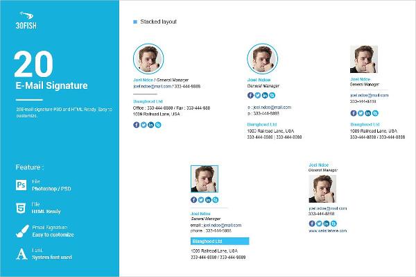 20 E-mail Signature Design Templates