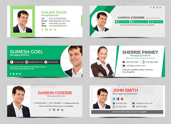 25 Flat Email Signature Templates