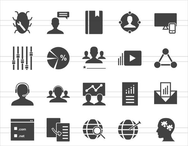 50 SEO & Development Glyph Icons