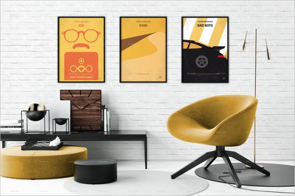 6 Premium Wall Art Mockups