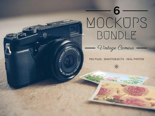 Vintage Camera Mockups Bundle